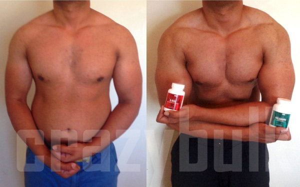 Zubair's before and after photo
