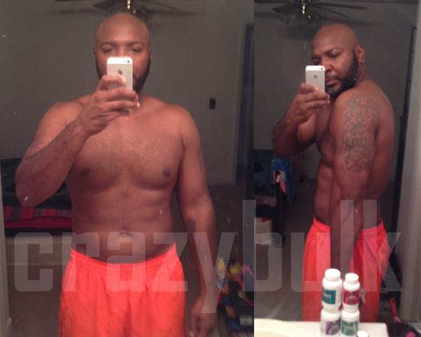 Michael's Before and After Photos from using Bulking Stack