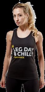 Women's Crazy Bulk Leg Day & Chill Racer Back Vest
